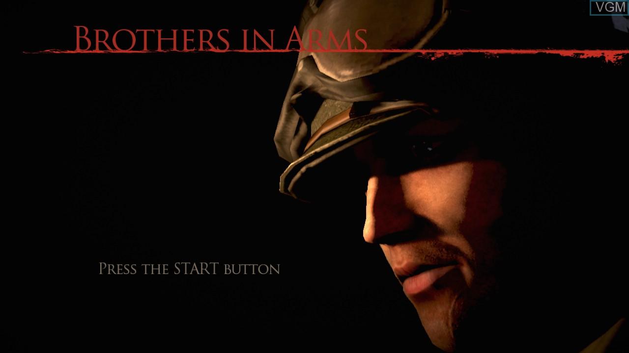 Image de l'ecran titre du jeu Brothers in Arms - Hell's Highway sur Sony Playstation 3