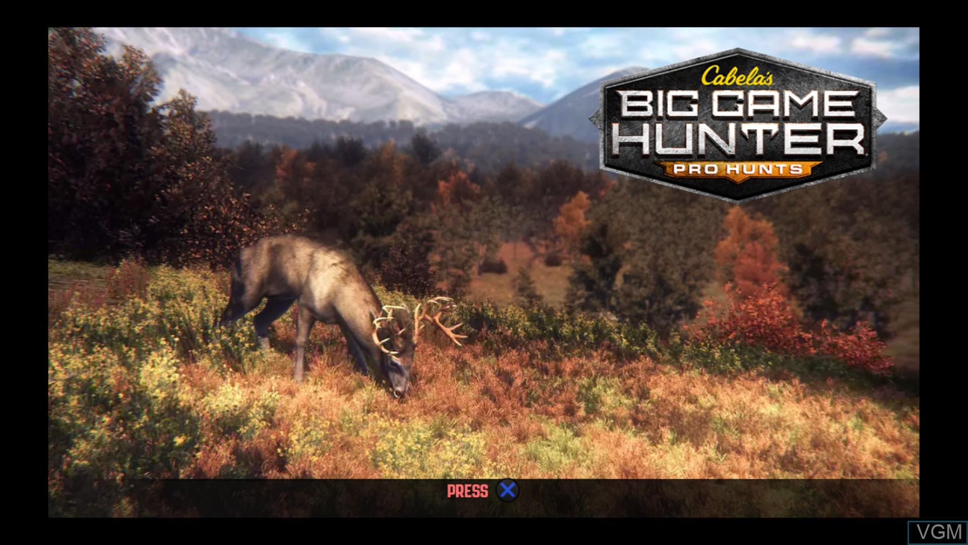 Image de l'ecran titre du jeu Cabela's Big Game Hunter - Pro Hunts sur Sony Playstation 3