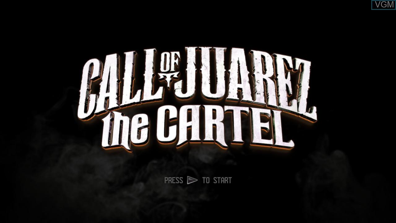 Image de l'ecran titre du jeu Call of Juarez - The Cartel sur Sony Playstation 3