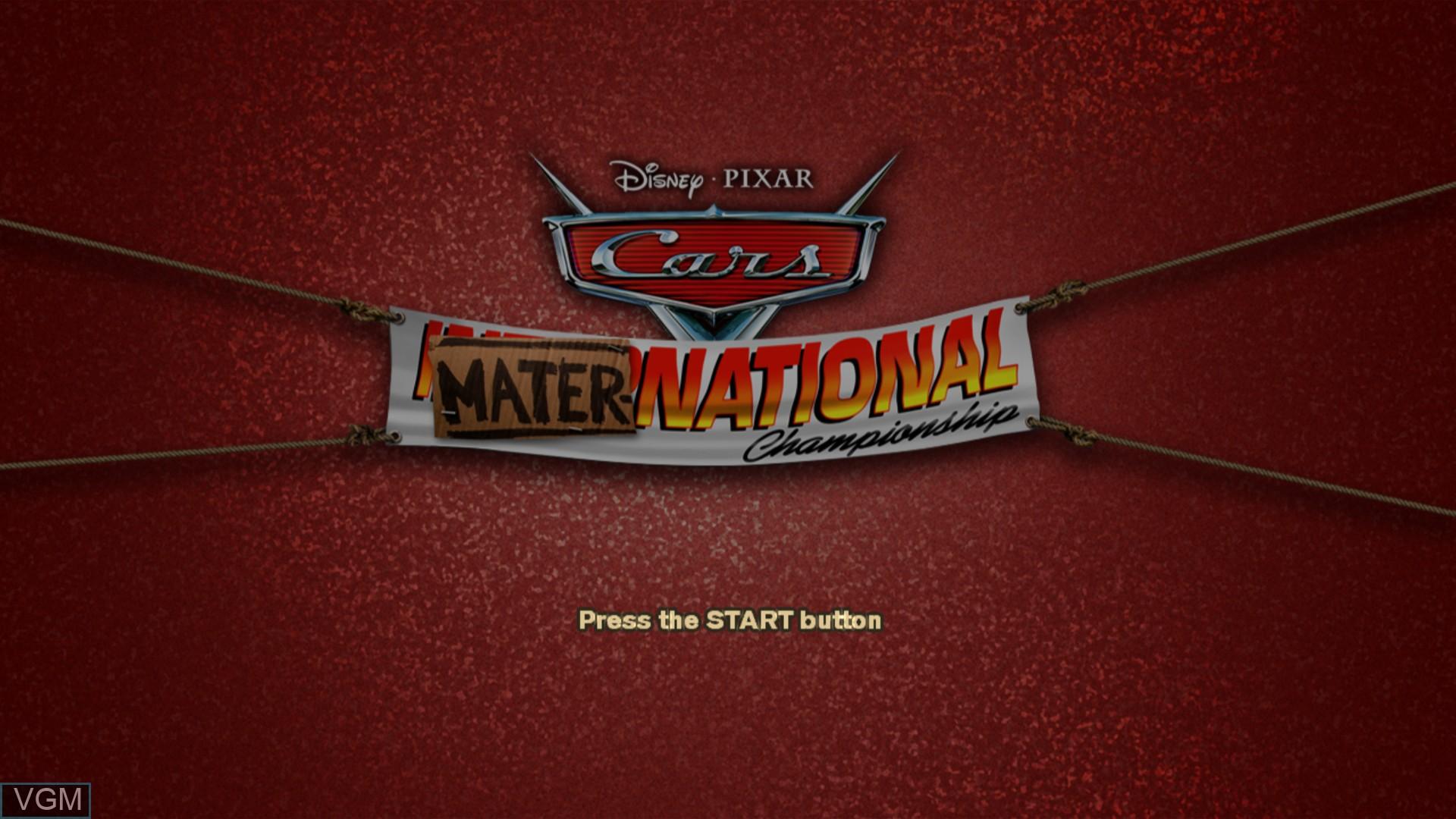 Image de l'ecran titre du jeu Cars Mater-National Championship sur Sony Playstation 3
