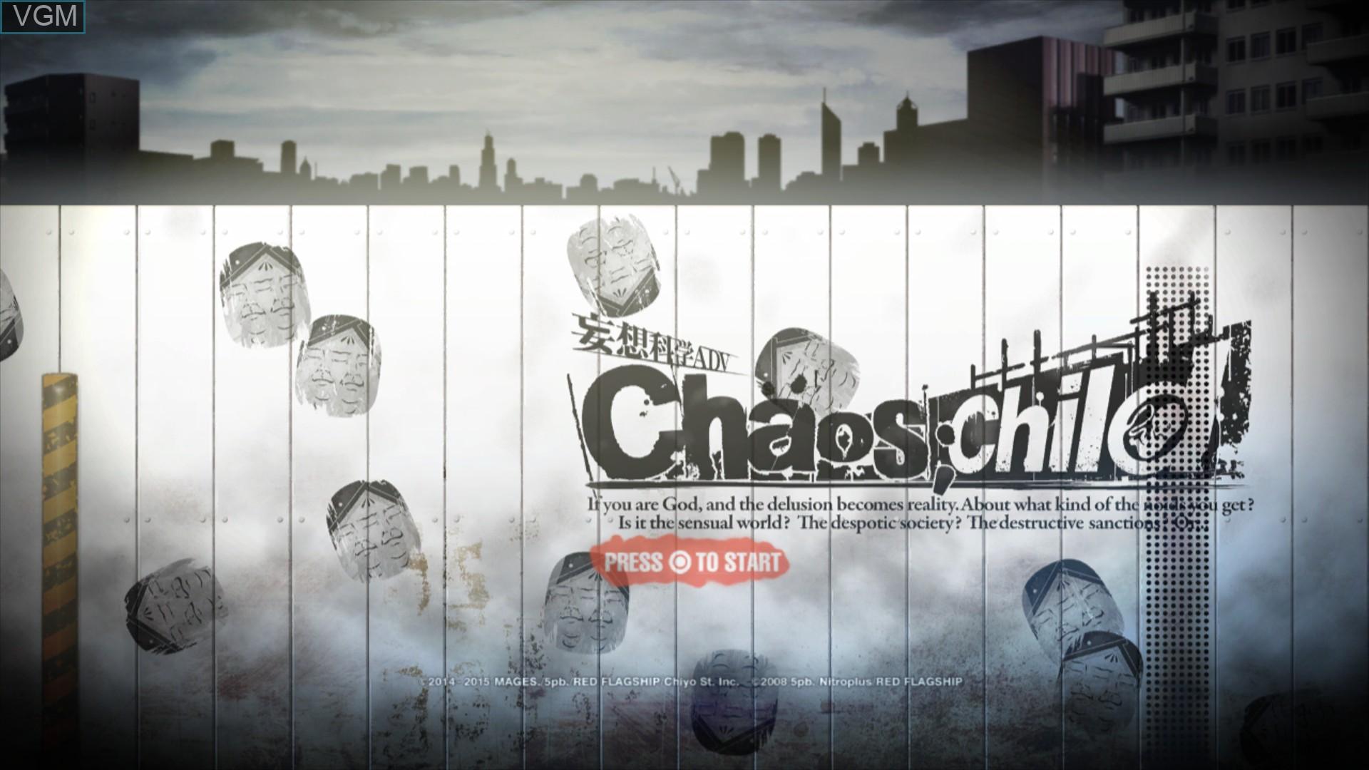 Image de l'ecran titre du jeu Chaos;Child sur Sony Playstation 3
