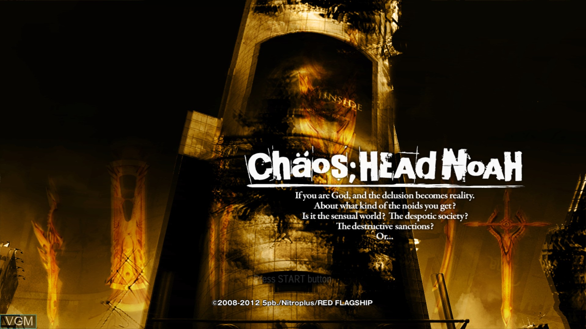 Image de l'ecran titre du jeu Chaos;Head Noah sur Sony Playstation 3