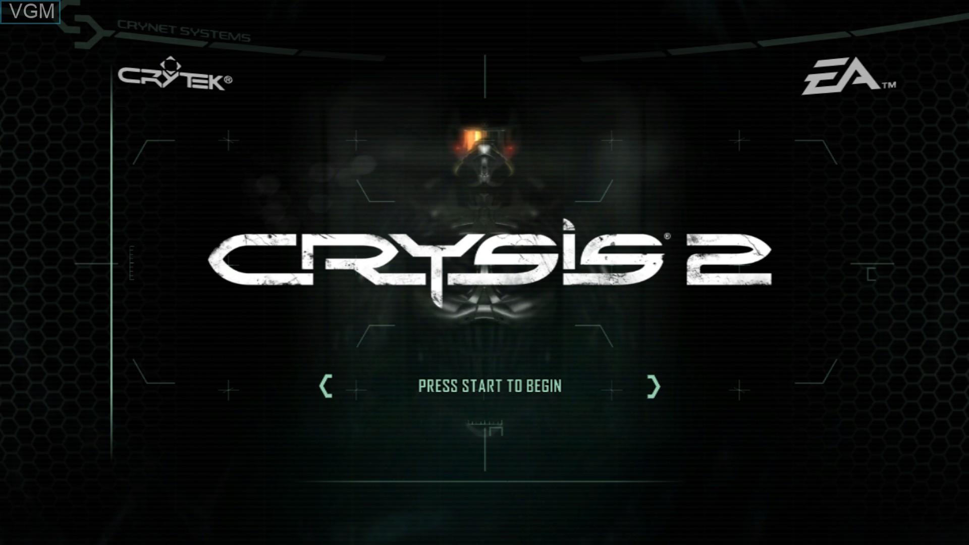 Image de l'ecran titre du jeu Crysis 2 sur Sony Playstation 3