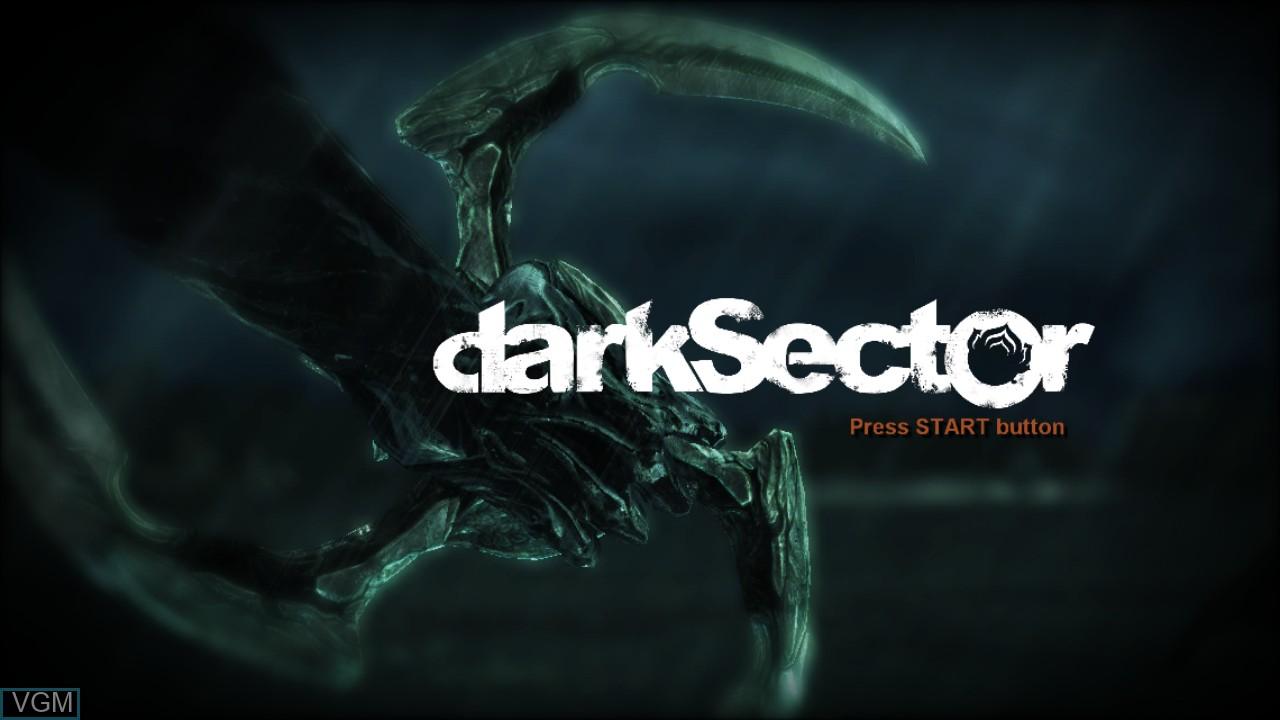 Image de l'ecran titre du jeu Dark Sector sur Sony Playstation 3