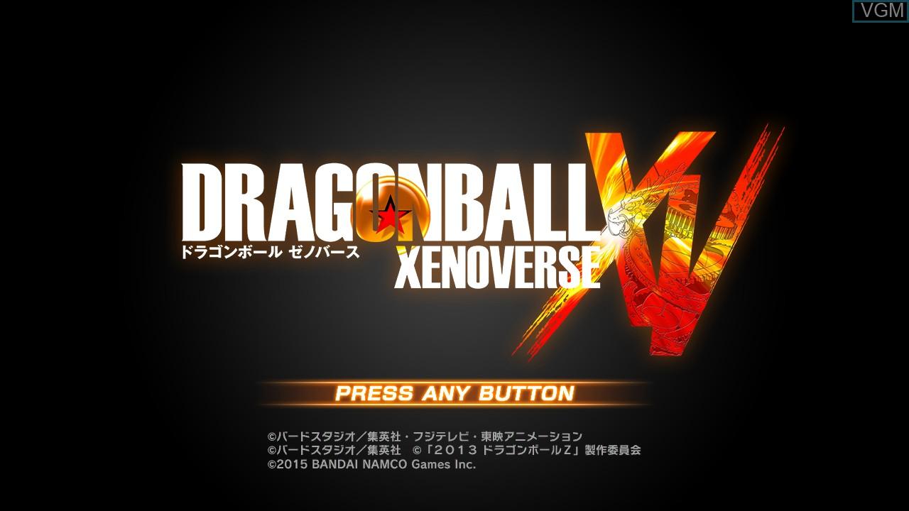 Image de l'ecran titre du jeu Dragon Ball - Xenoverse sur Sony Playstation 3