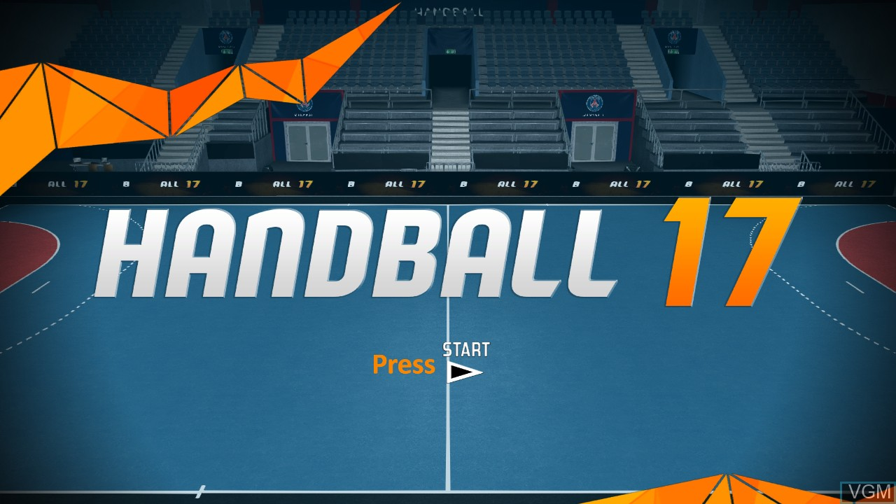 Image de l'ecran titre du jeu Handball 17 sur Sony Playstation 3