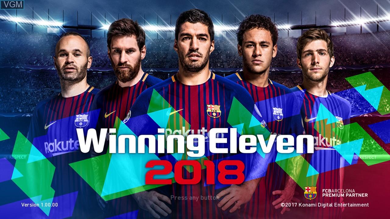 Image de l'ecran titre du jeu Winning Eleven 2018 sur Sony Playstation 3