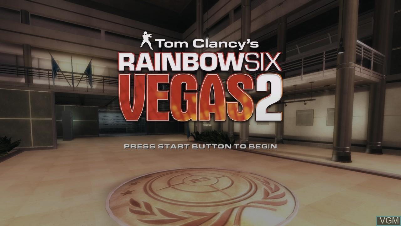 Image de l'ecran titre du jeu Tom Clancy's Rainbow Six Vegas 2 sur Sony Playstation 3