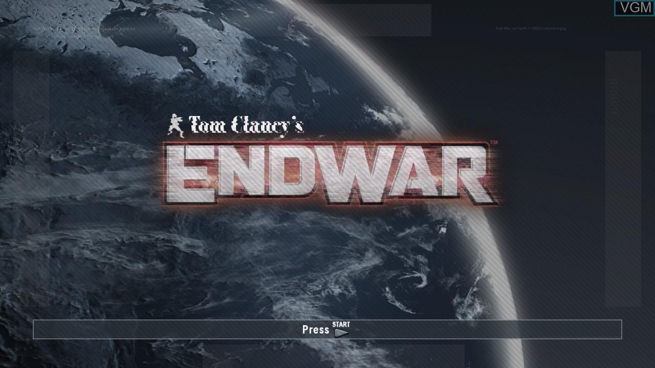 Image de l'ecran titre du jeu Tom Clancy's EndWar sur Sony Playstation 3