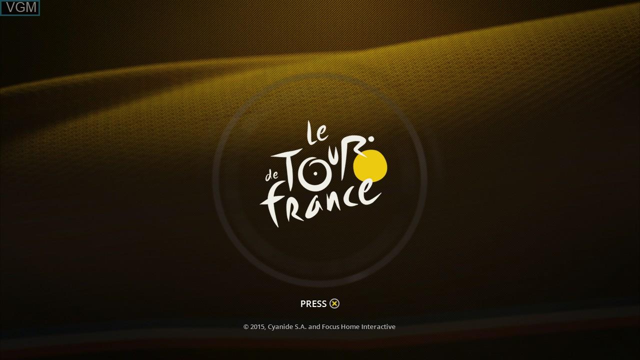 Image de l'ecran titre du jeu Tour de France, Le sur Sony Playstation 3