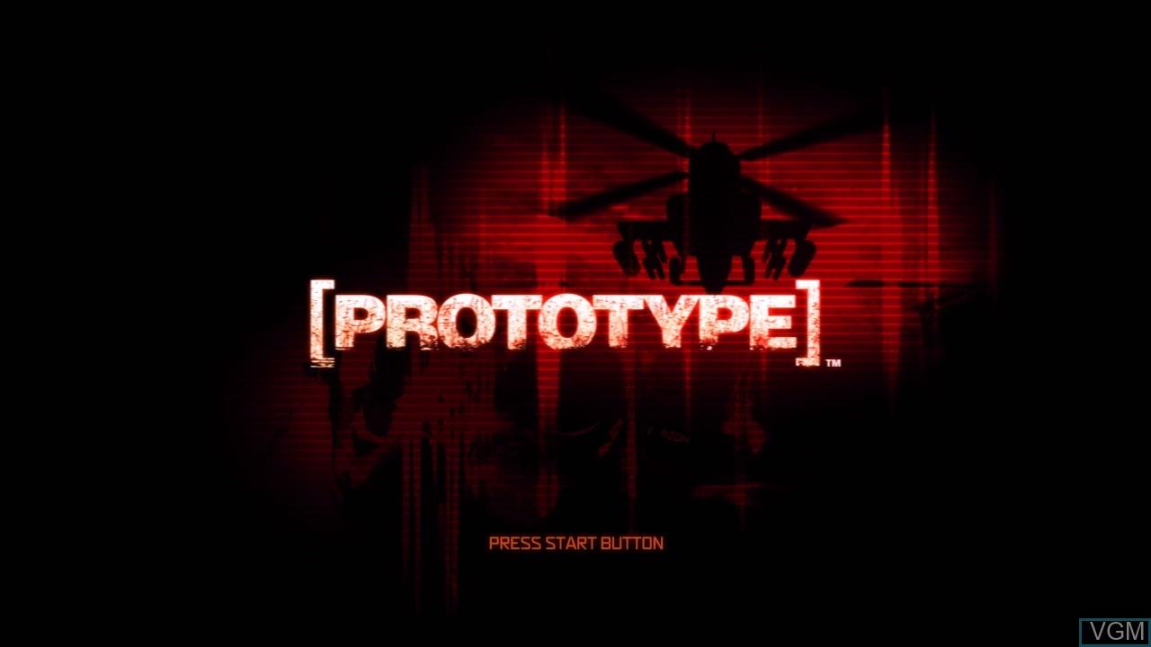 Image de l'ecran titre du jeu Prototype sur Sony Playstation 3