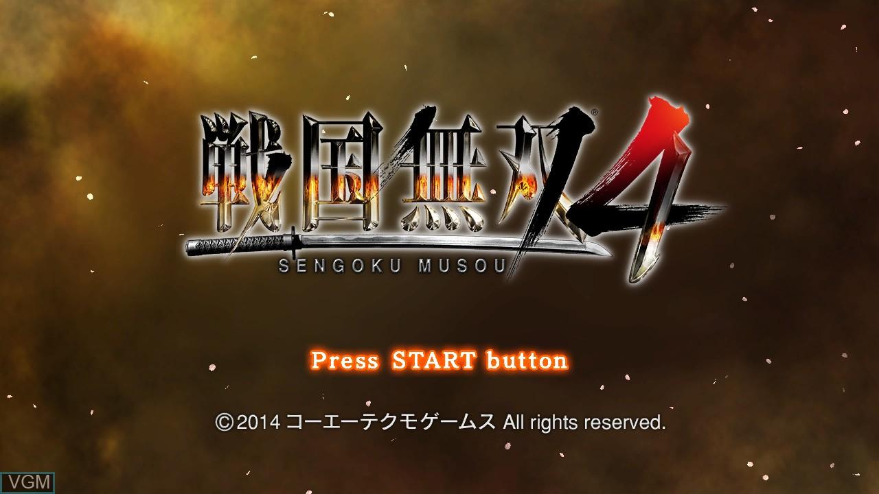 Image de l'ecran titre du jeu Sengoku Musou 4 sur Sony Playstation 3