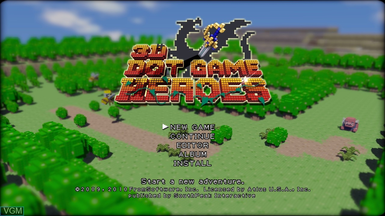Image du menu du jeu 3D Dot Game Heroes sur Sony Playstation 3