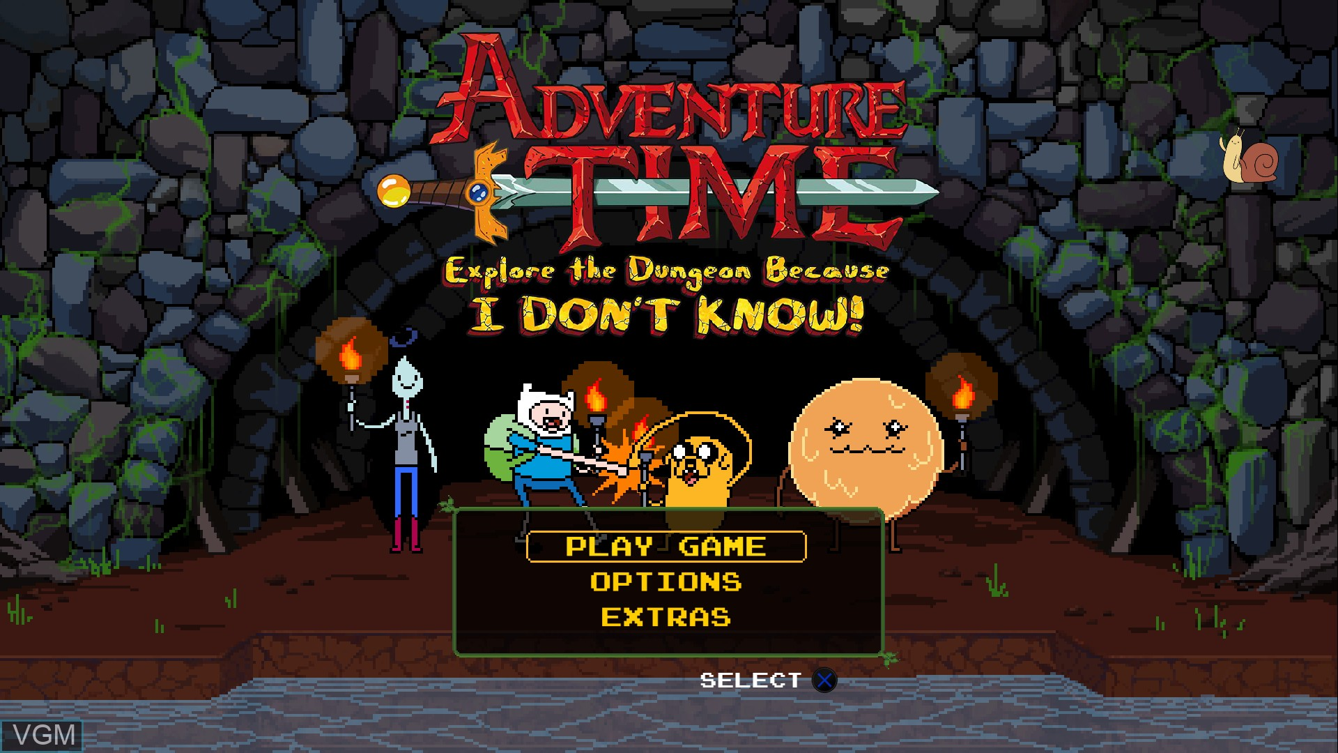 Image du menu du jeu Adventure Time - Explore the Dungeon Because I DON'T KNOW! sur Sony Playstation 3