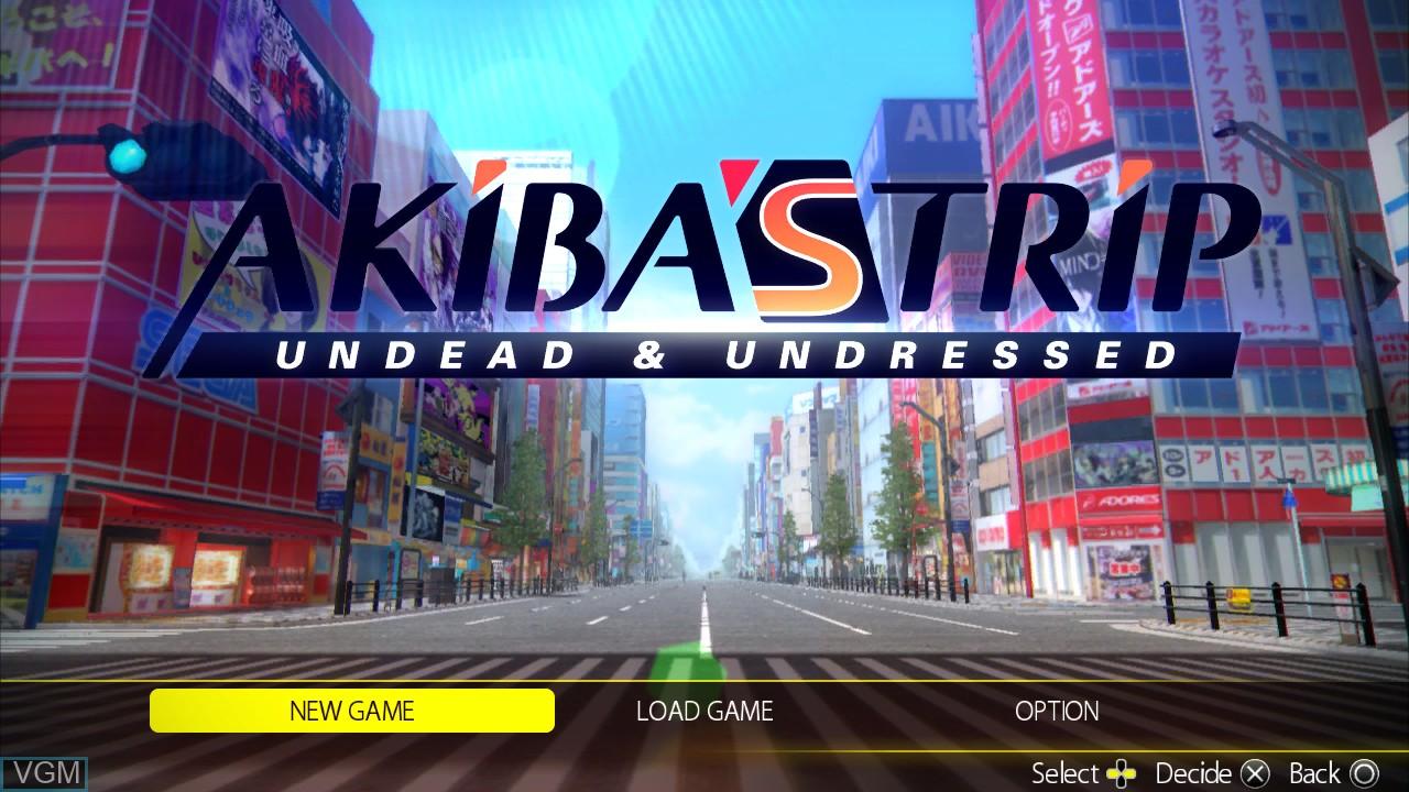 Image du menu du jeu Akiba's Trip - Undead & Undressed sur Sony Playstation 3