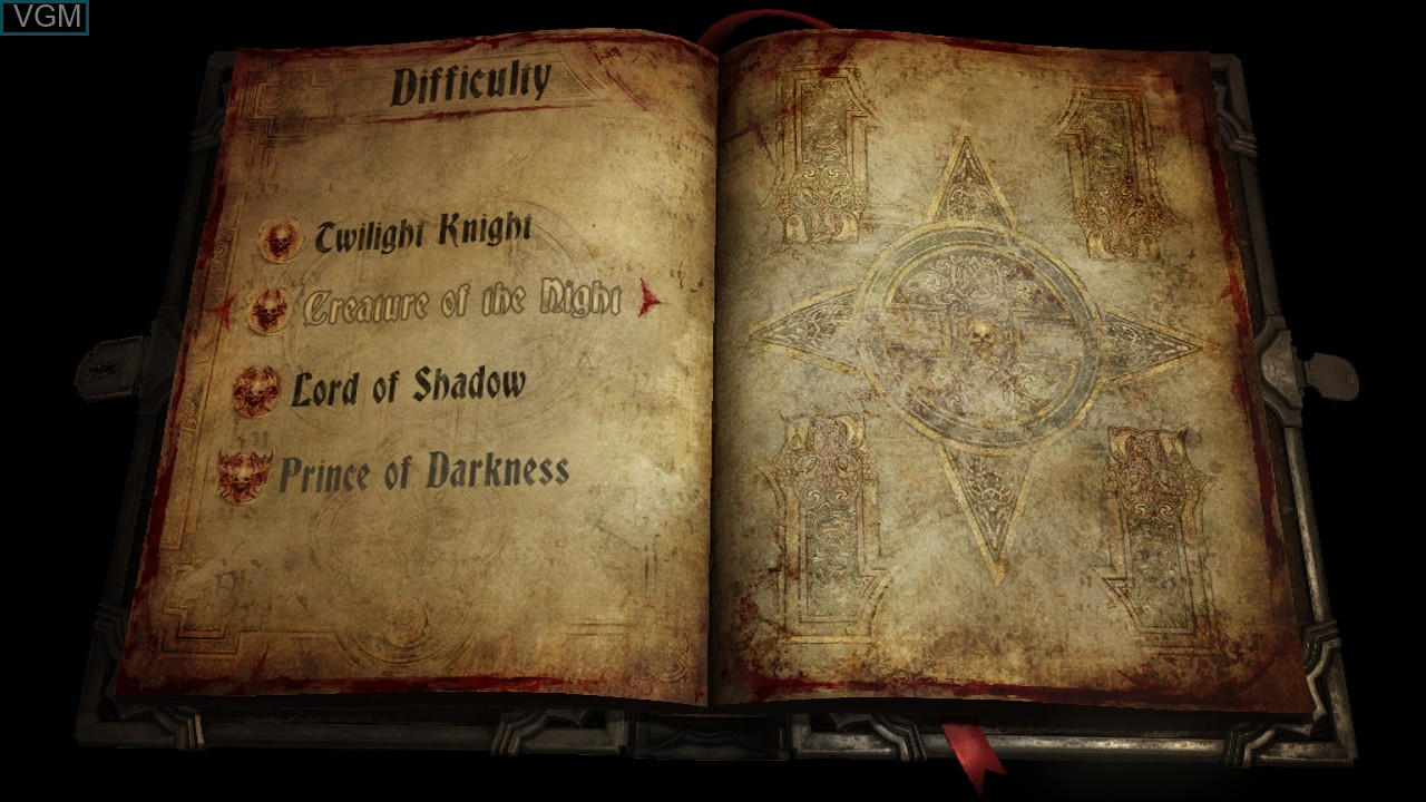 Image du menu du jeu Castlevania - Lords of Shadow 2 sur Sony Playstation 3