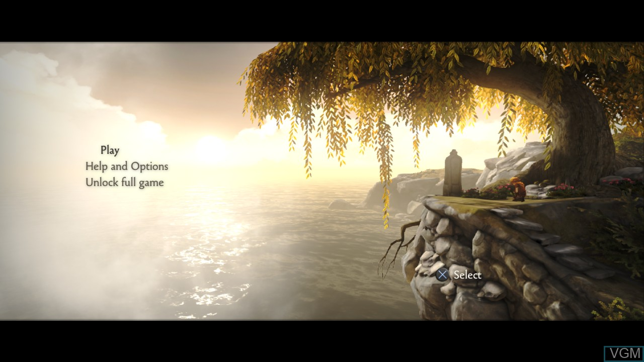 Image du menu du jeu Brothers - A Tale of Two Sons sur Sony Playstation 3