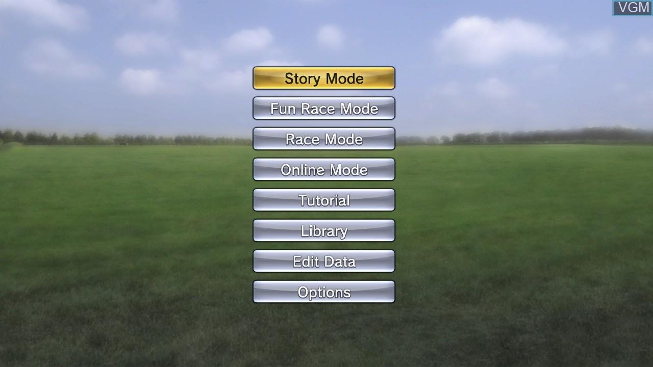 Image du menu du jeu Champion Jockey - G1 Jockey & Gallop Racer sur Sony Playstation 3