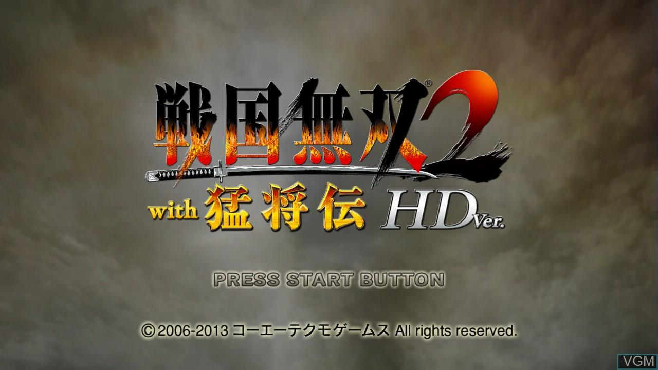 Image du menu du jeu Sengoku Musou 2 with Moushouden & Empires HD Version sur Sony Playstation 3