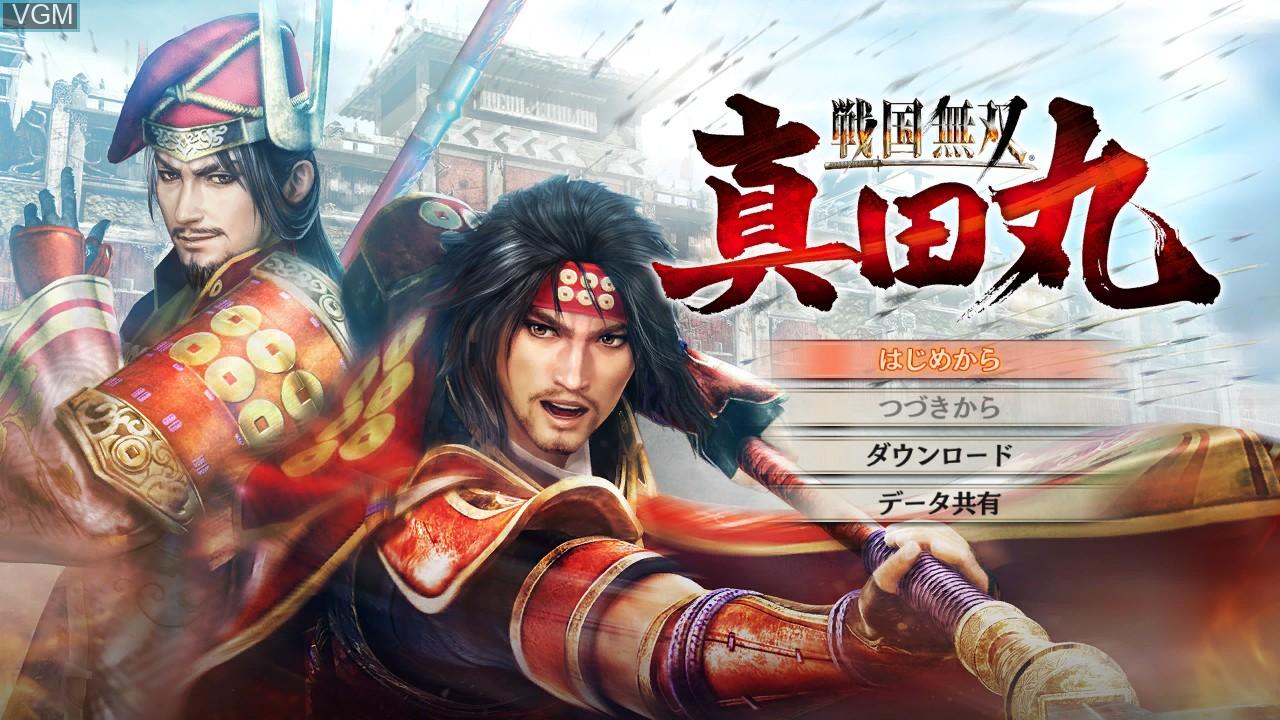 Image du menu du jeu Sengoku Musou - Sanada Maru sur Sony Playstation 3