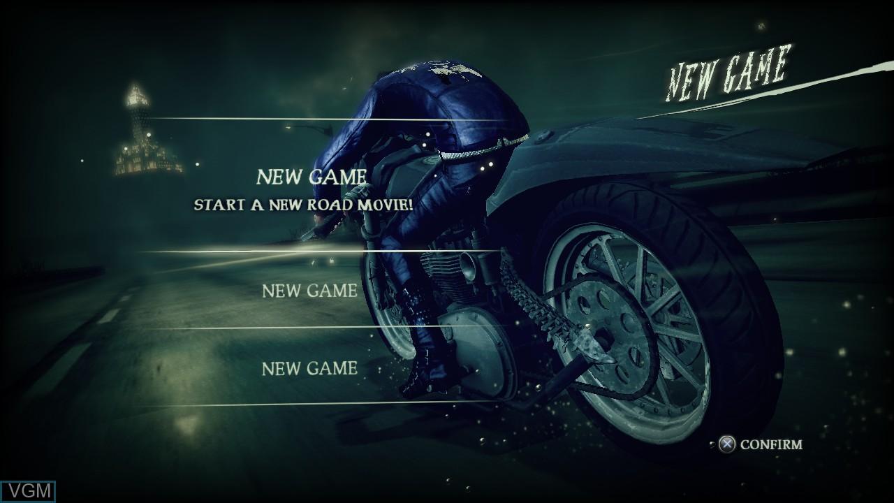 Image du menu du jeu Shadows of the Damned sur Sony Playstation 3