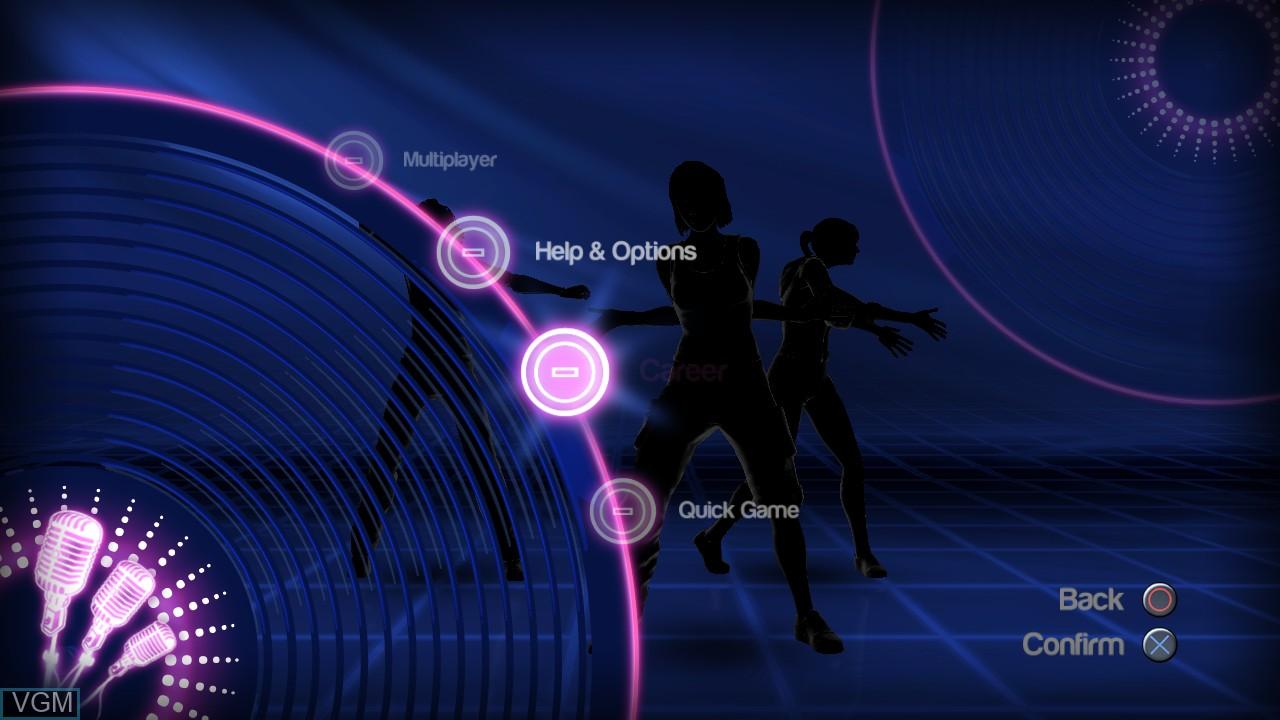 Image du menu du jeu Dance! It's Your Stage sur Sony Playstation 3