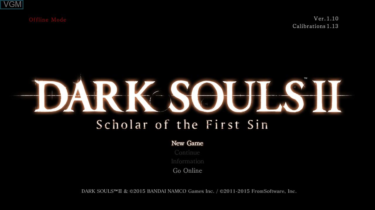 Image du menu du jeu Dark Souls II sur Sony Playstation 3