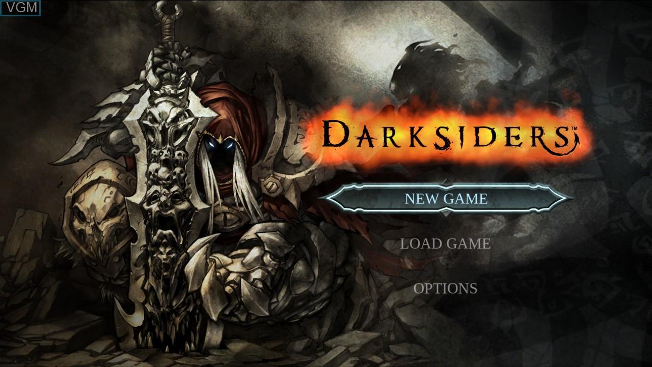 Image du menu du jeu Darksiders sur Sony Playstation 3