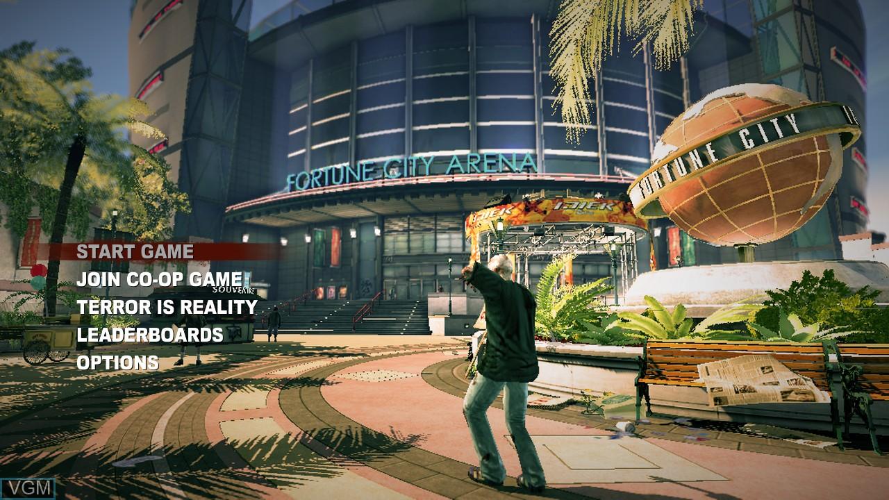 Image du menu du jeu Dead Rising 2 sur Sony Playstation 3