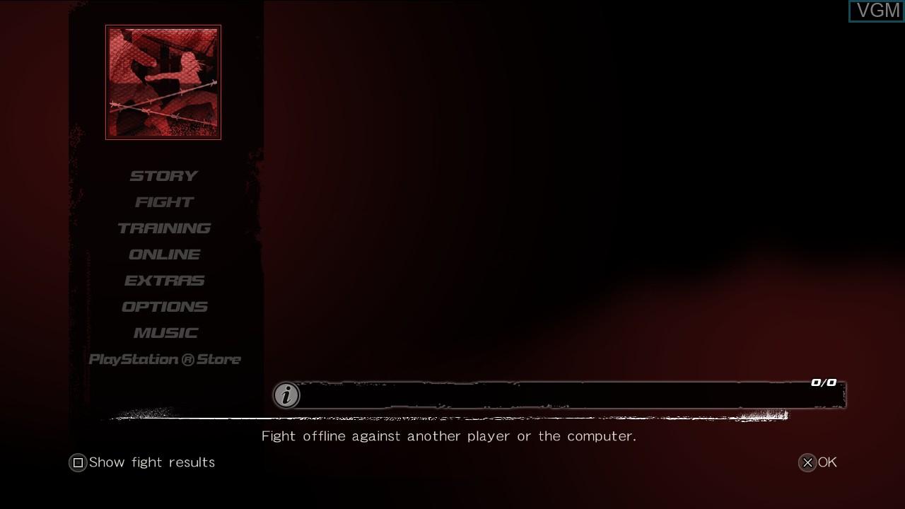 Image du menu du jeu Dead or Alive 5 Last Round sur Sony Playstation 3