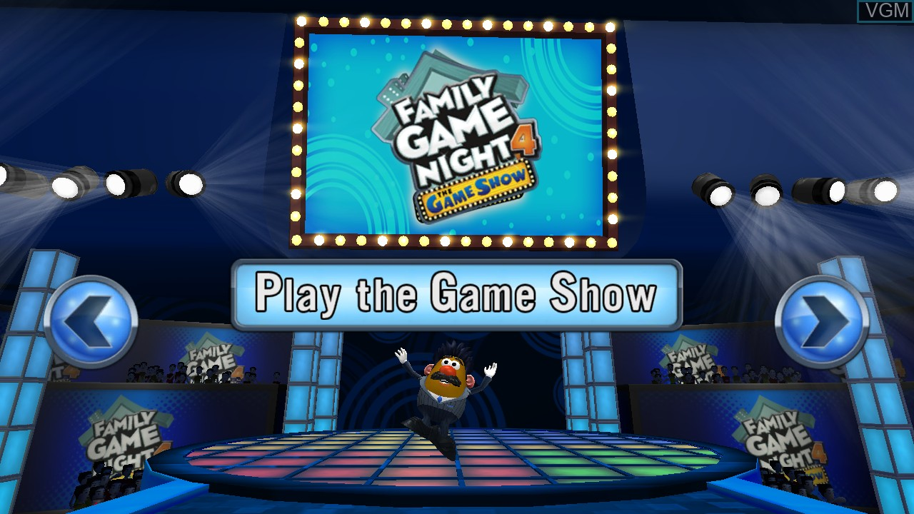 Image du menu du jeu Family Game Night 4 - The Game Show sur Sony Playstation 3