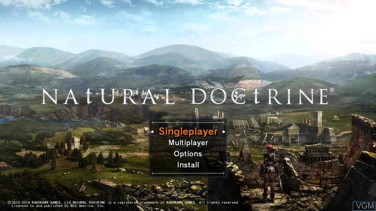 Image du menu du jeu Natural Doctrine sur Sony Playstation 3