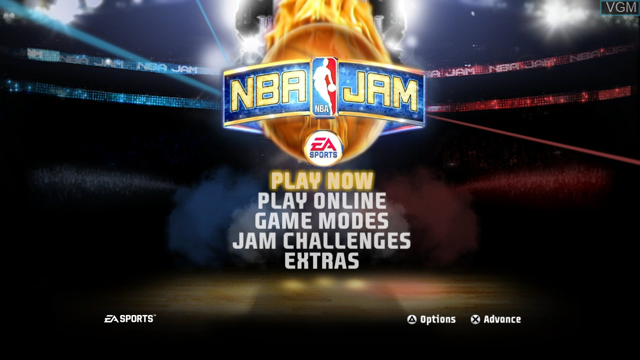 Image du menu du jeu NBA Jam sur Sony Playstation 3