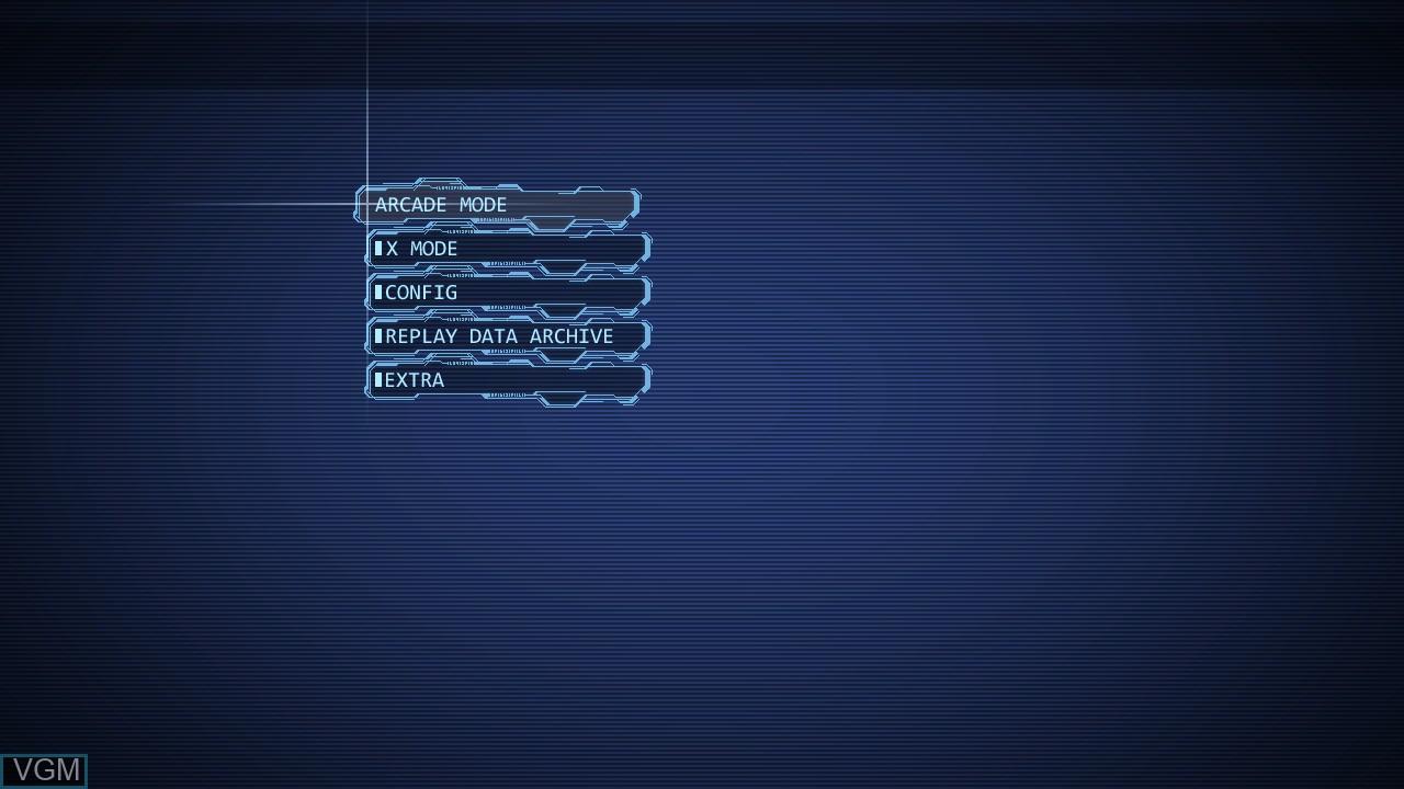 Image du menu du jeu Ketsui - Kizuna Jigoku Tachi Extra sur Sony Playstation 3