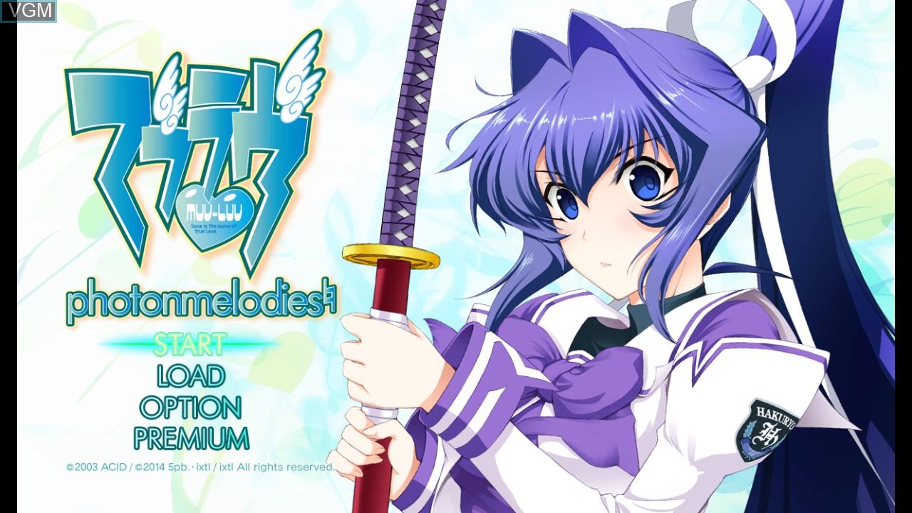 Image du menu du jeu Muv-Luv - photonmelodies sur Sony Playstation 3