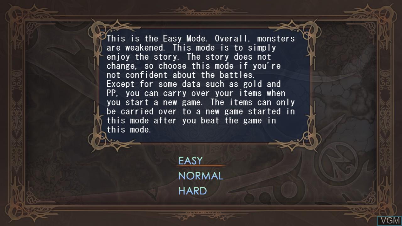 Image du menu du jeu Agarest - Generations of War sur Sony Playstation 3