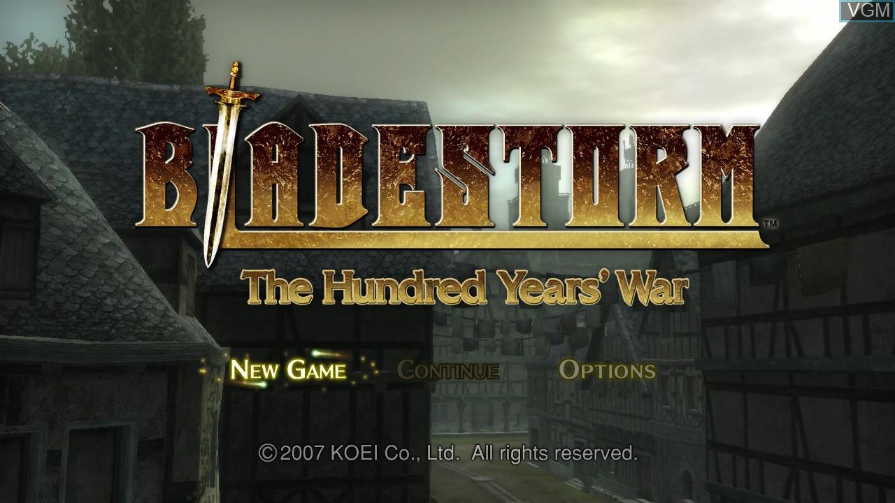Image du menu du jeu Bladestorm - The Hundred Years' War sur Sony Playstation 3