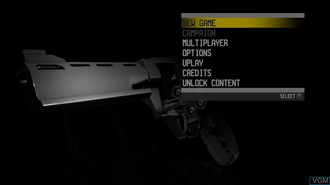 Image du menu du jeu Call of Juarez - The Cartel sur Sony Playstation 3