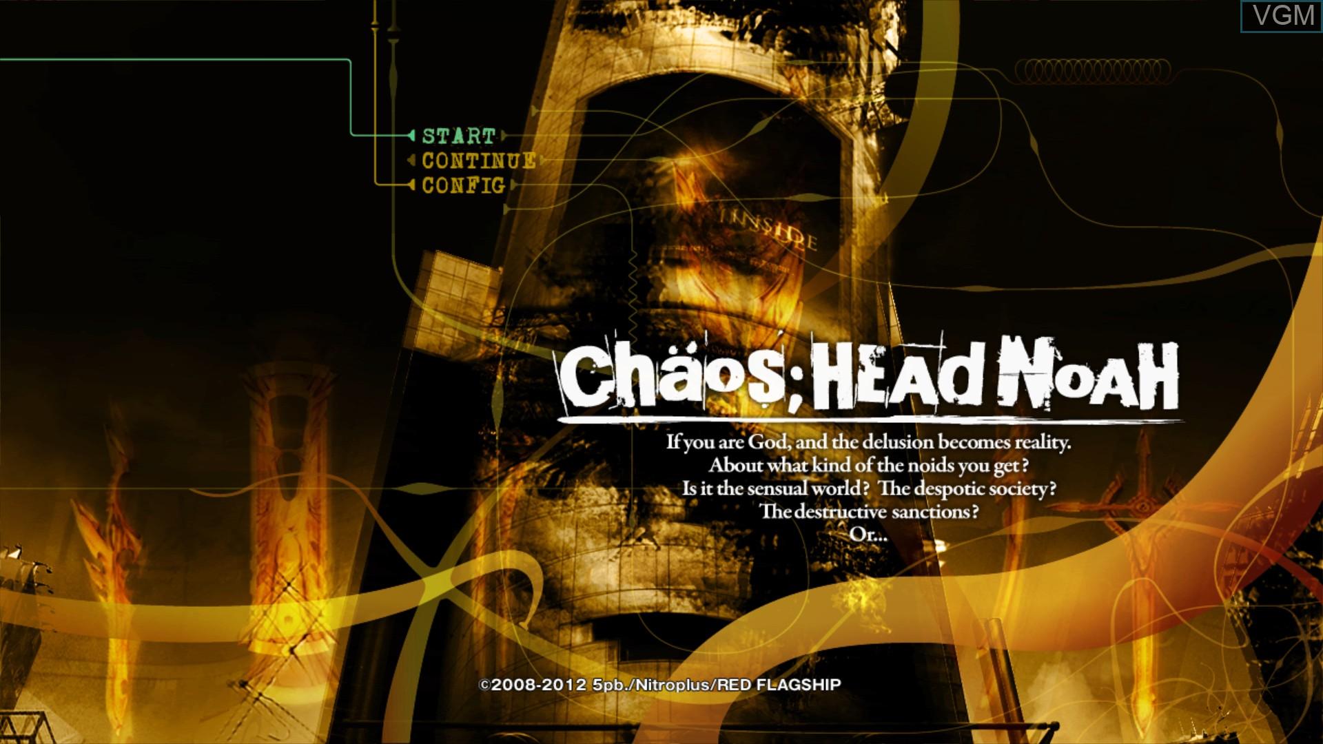 Image du menu du jeu Chaos;Head Noah sur Sony Playstation 3