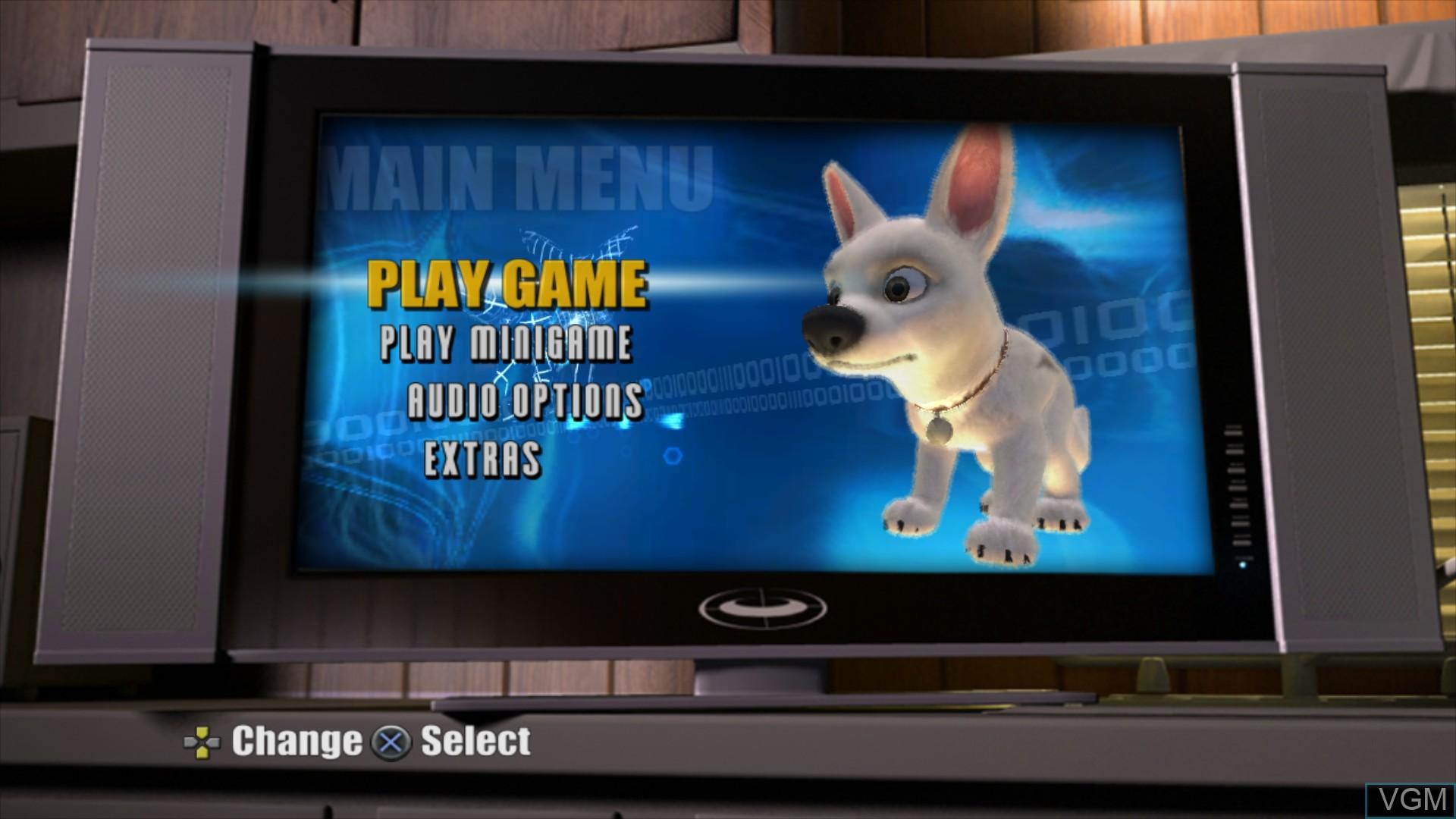 Image du menu du jeu Bolt sur Sony Playstation 3