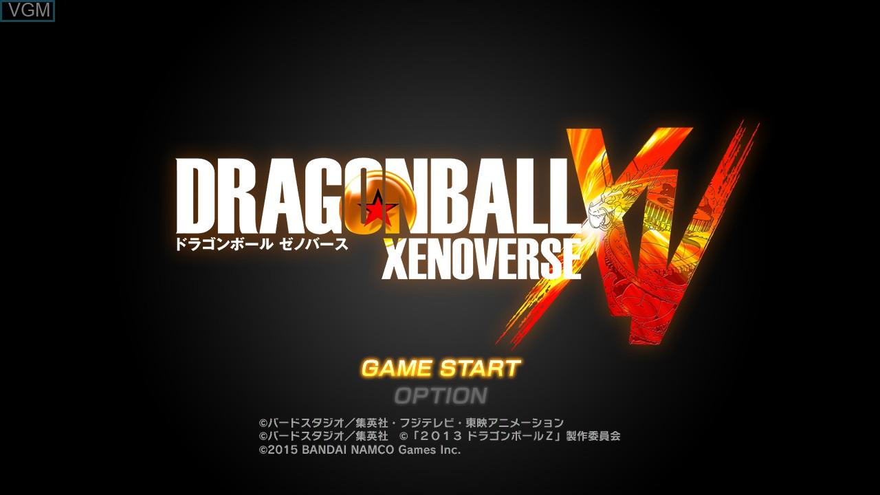 Image du menu du jeu Dragon Ball - Xenoverse sur Sony Playstation 3