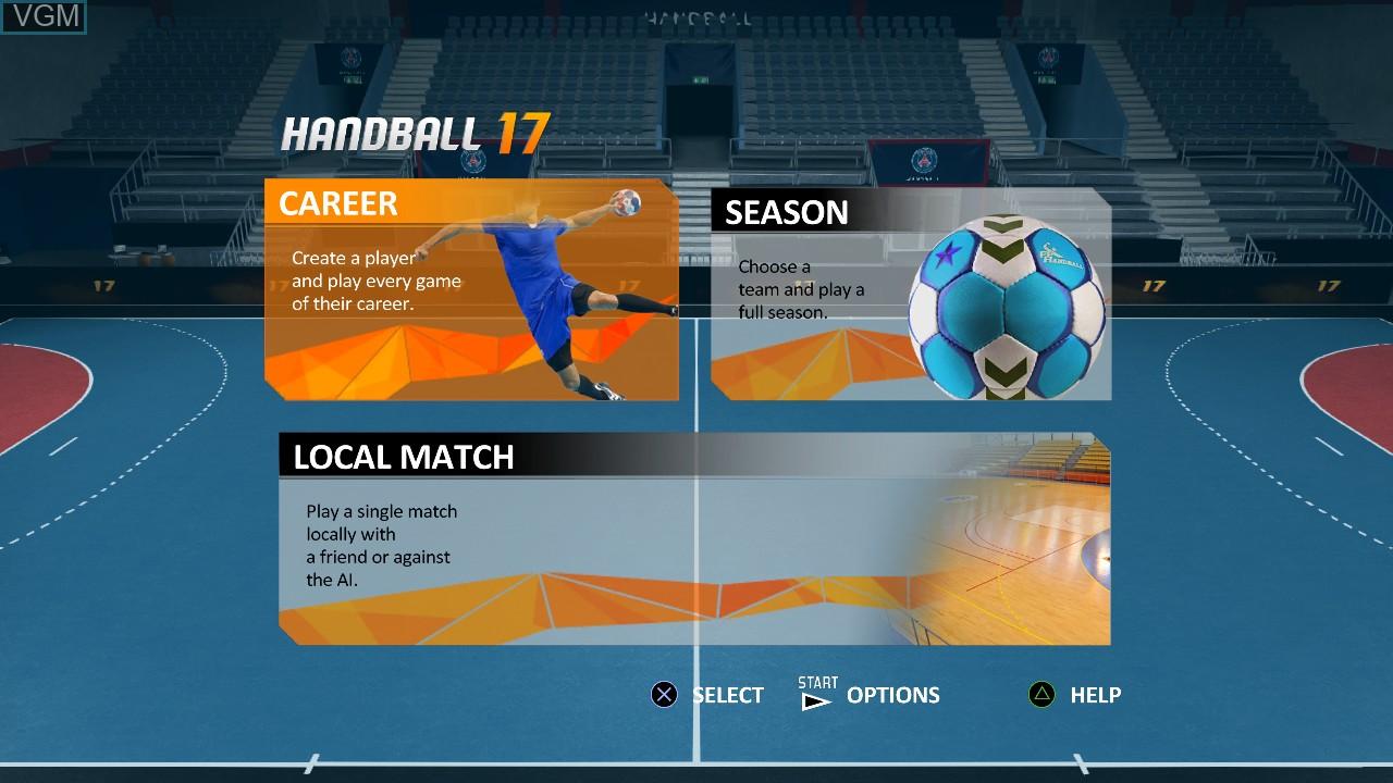 Image du menu du jeu Handball 17 sur Sony Playstation 3