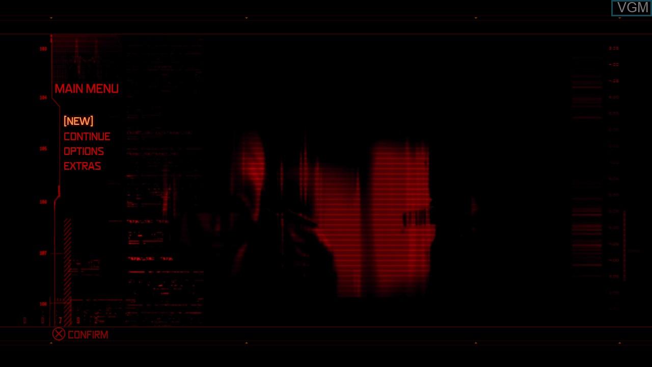 Image du menu du jeu Prototype sur Sony Playstation 3