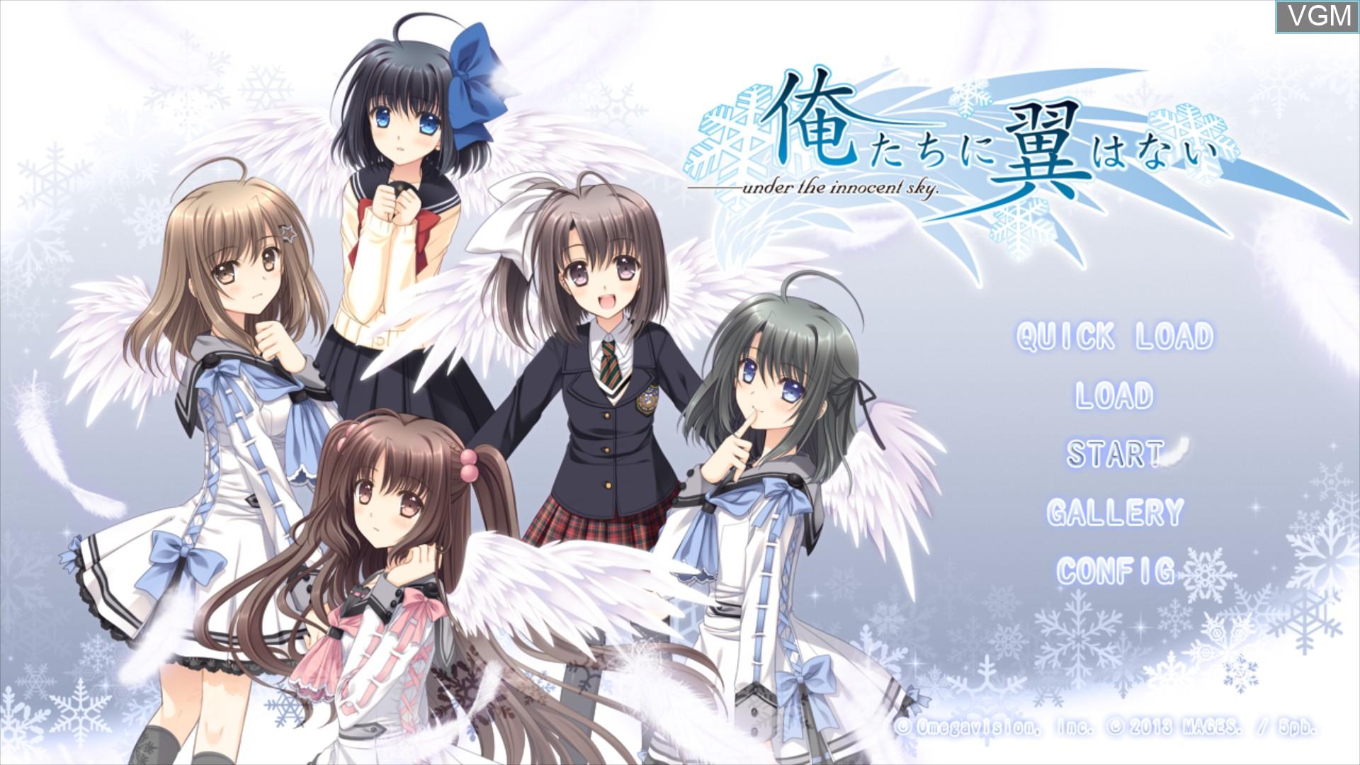 Image du menu du jeu Oretachi ni Tsubasa wa Nai sur Sony Playstation 3