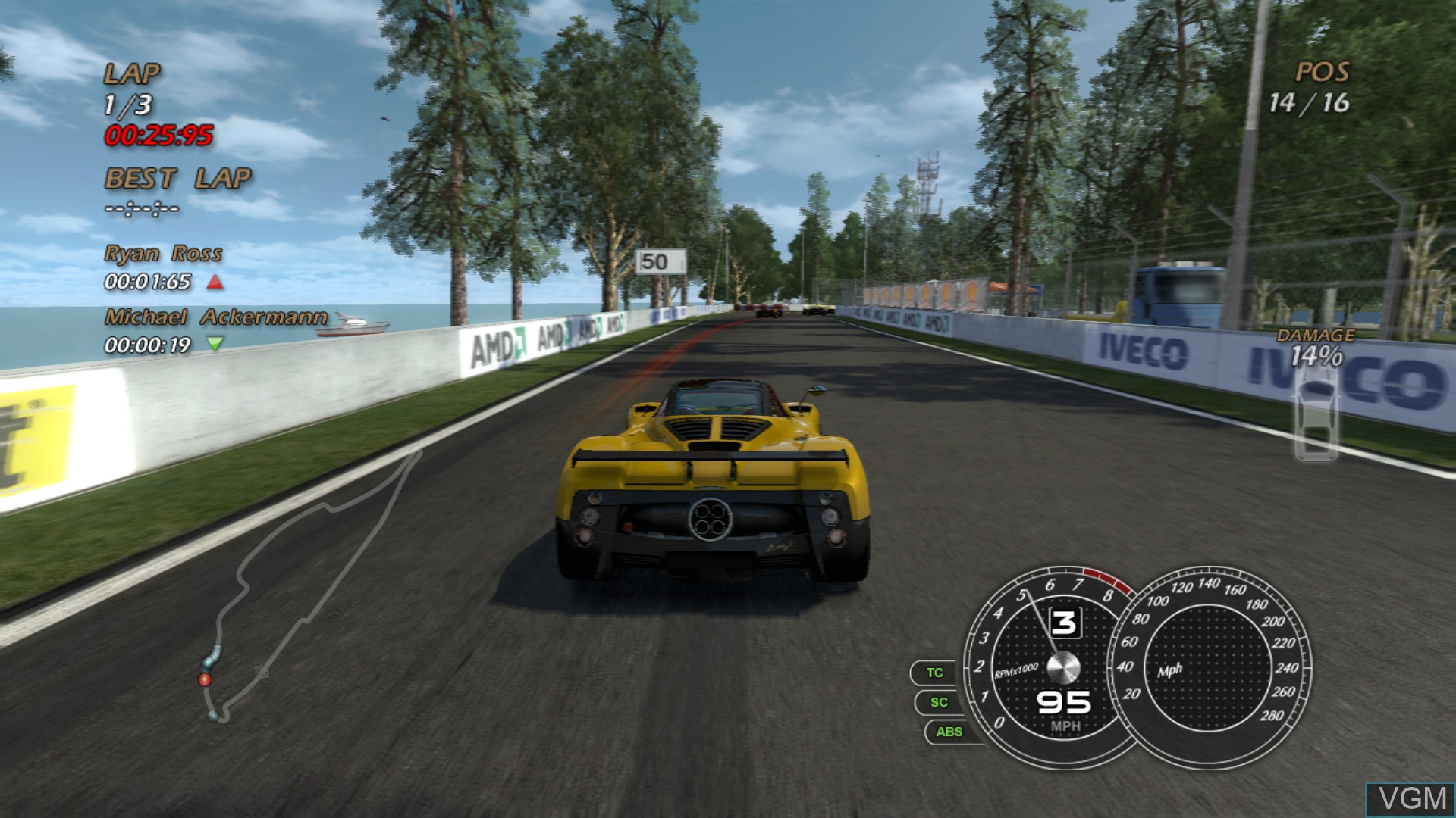 Image in-game du jeu Absolute Supercars sur Sony Playstation 3