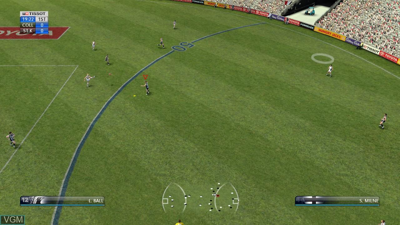 Image in-game du jeu AFL Live sur Sony Playstation 3