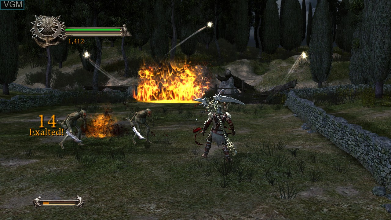 Image in-game du jeu Dante's Inferno sur Sony Playstation 3
