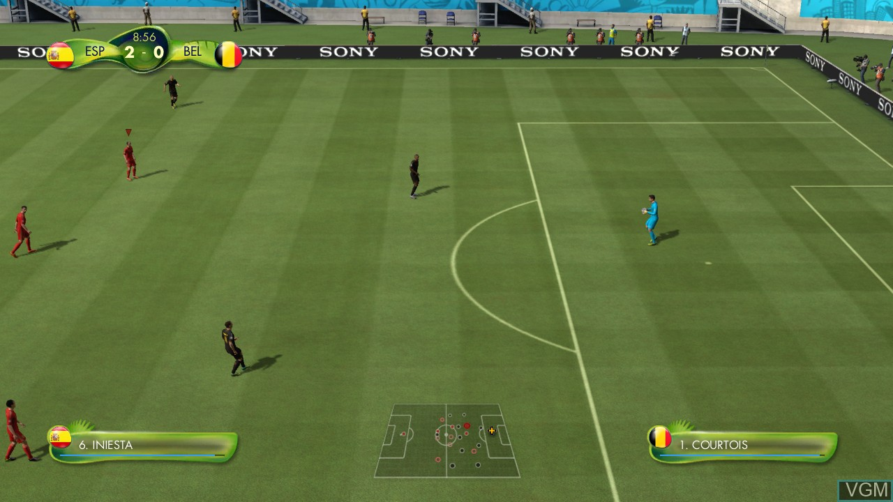 Image in-game du jeu 2014 FIFA World Cup Brazil sur Sony Playstation 3