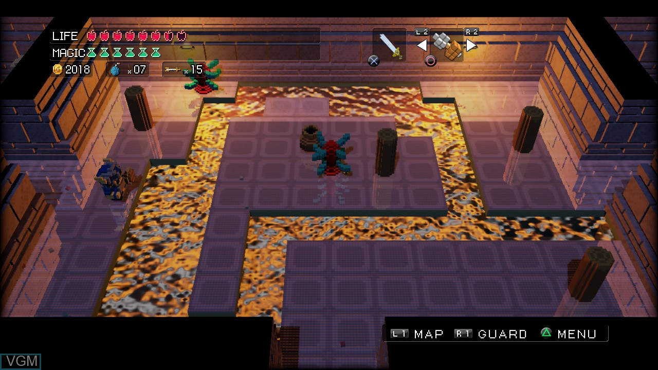 Image in-game du jeu 3D Dot Game Heroes sur Sony Playstation 3