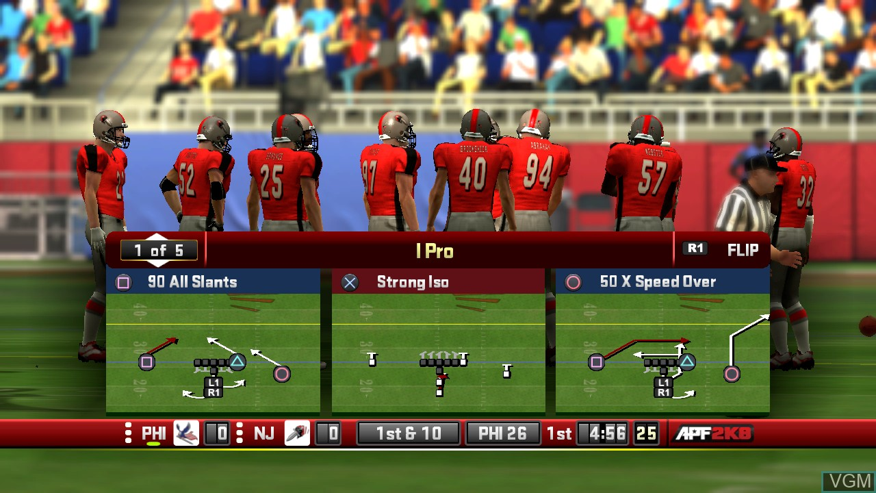 Image in-game du jeu All-Pro Football 2K8 sur Sony Playstation 3